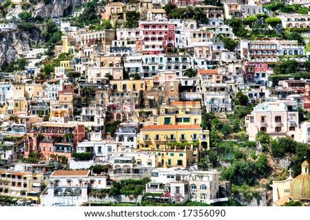 Positano, Amalfi Coast of Italy - stock photo