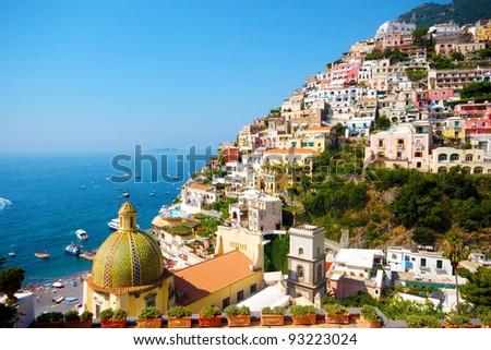Positano, italy. Amalfi Coast - stock photo