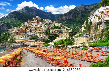 Positano, scenery Italy series - stock photo