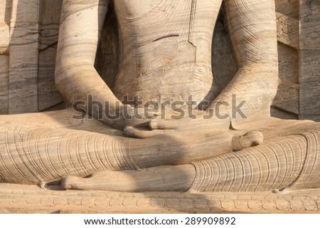 Position for sitting meditation - stock photo