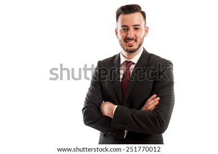 Positive and confident manager - stock photo