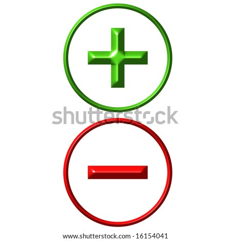 Positive and negative - stock photo