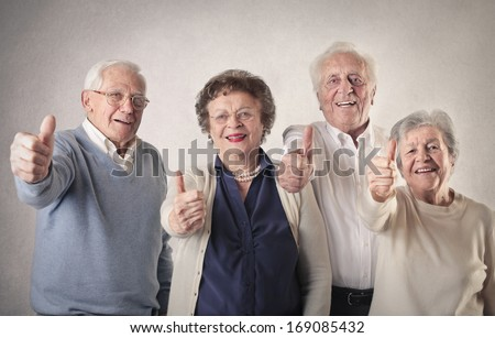 Positive Oldies - stock photo