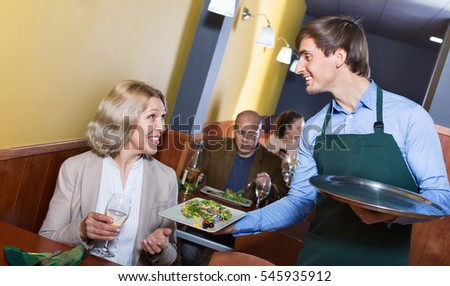 waiter serving food stock images royalty free images vectors