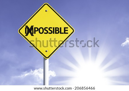 Possible road sign with sun background  - stock photo