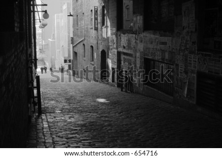 Post Alley, Pike Place Market, Seattle - stock photo