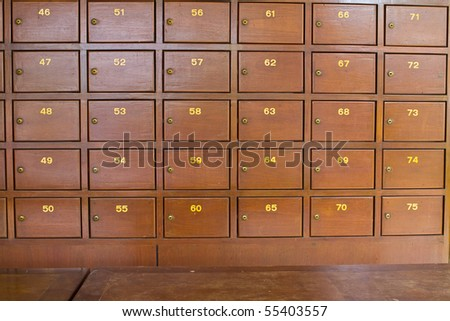 Post Box at Post Office - stock photo