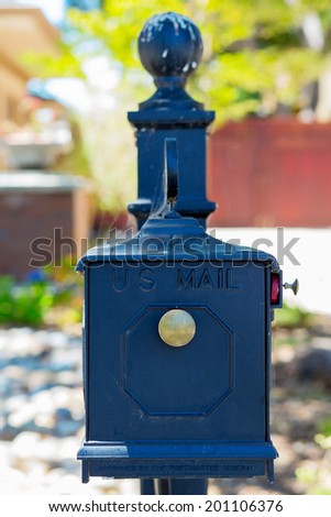 Post box. USA - stock photo