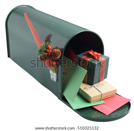 post box with presents box