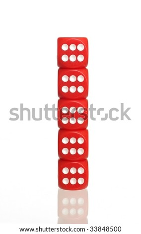 post from bone to game on white background - stock photo