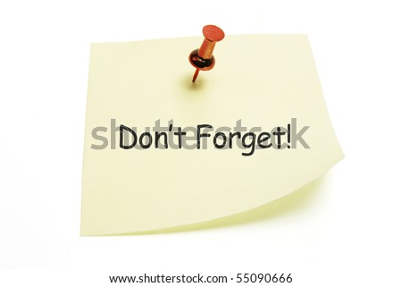 Post It Note Paper on White Background - stock photo