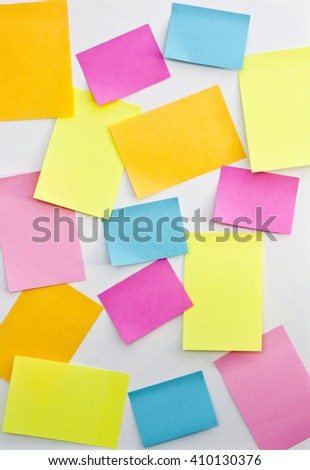 post it on white board, for use of taking notes, or authors declare. - stock photo
