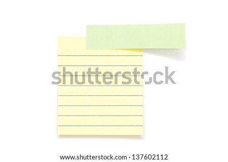 Post it paper stickers isolated over white background - stock photo