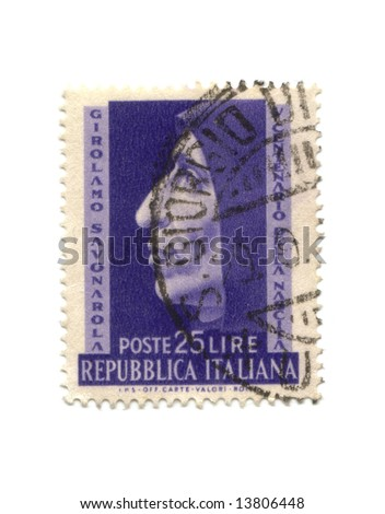 Postage stamp from Italy dated 1950