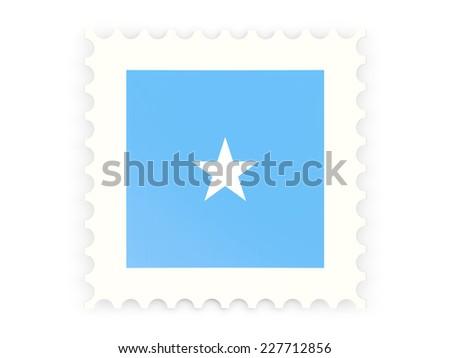 Postage stamp icon of somalia isolated on white - stock photo