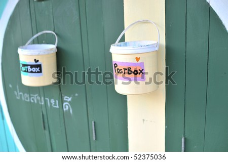 Postbox in the Pai Northern Thailand - stock photo