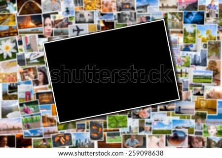 postcard photo template blurred background photos stock photo
