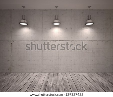 poster in room - stock photo