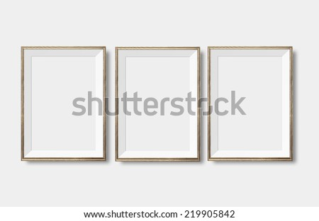 Posters on wall - stock photo