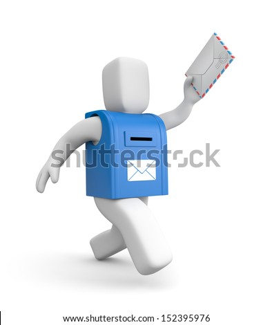 Postman - stock photo