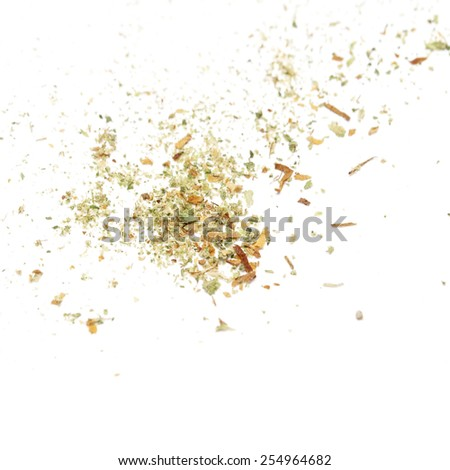 Pot, Cannabis, Weed, Marijuana bud on white background  - stock photo