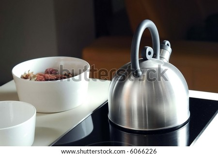 pot in the kichen - stock photo
