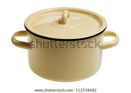 pot. isolated in white background - stock photo