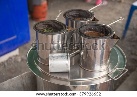 Pot of boiled coffee in Thailand / Thai Coffee