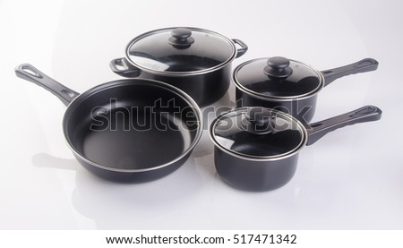 pot or stainless steel pot on a background
