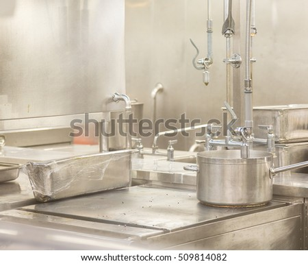 Pot Washing Area in commercial Kitchen