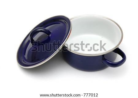 Pot With Lid Open - stock photo