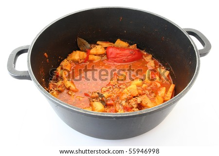 pot with soup