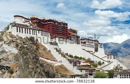 Potala palace in Lhasa, Tibet - stock photo