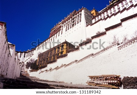 Potala Palace in Lhasa, Tibet, former home of the Dalai Lama
