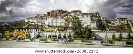 Potala palace in Tibet - stock photo