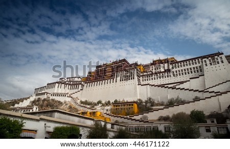 Potala palace, the world heritage, in Spring - stock photo