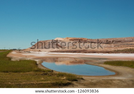 Potash Tailing Reflections - stock photo