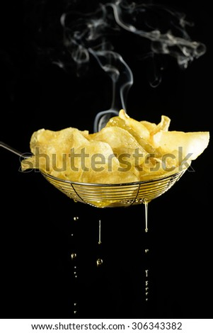 Potato chips - stock photo