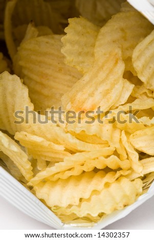 Potato Chips close up shot