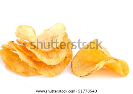 potato chips on isolated