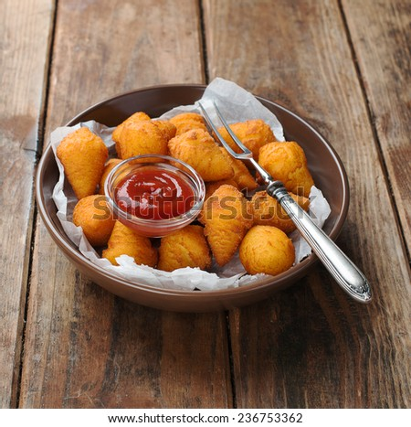 potato croquettes  - stock photo