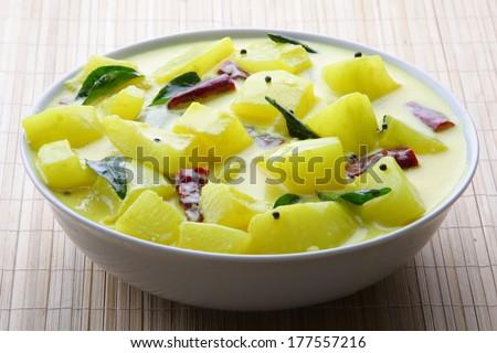 Potato curry sauce.  - stock photo