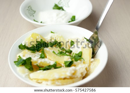 Potato Gratin With Herbs In Batch Form
