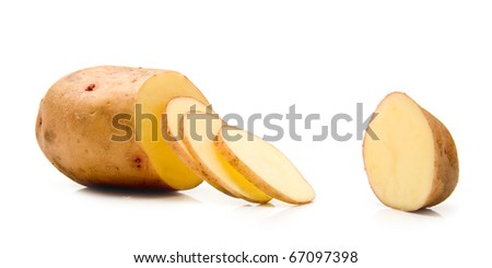 potato on a white background - stock photo