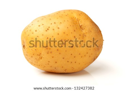 potato on white background - stock photo
