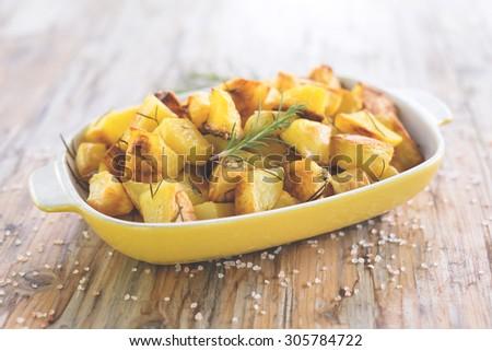 Potato roast, Italian Food  - stock photo