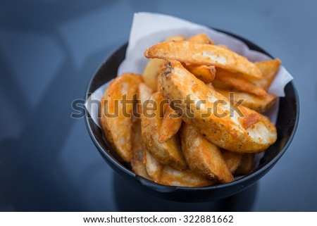 Potato Wedges - stock photo