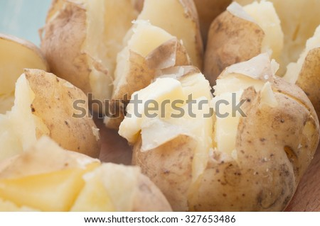 potato with butter