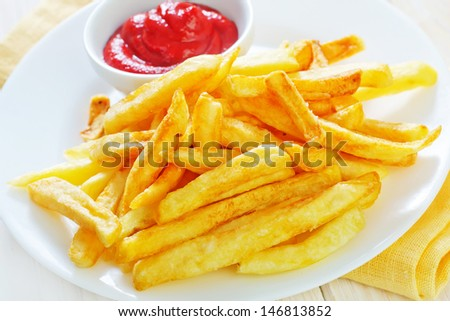 potato with sauce - stock photo