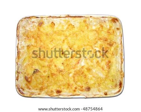 potatoe gratin - stock photo